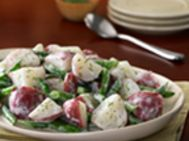 This makes a simple, low-fat side dish, and is a refreshing take on traditional potato salad.