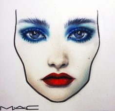 MAC face chart by Amalia Bot Mac Face Charts, Mac Retro Matte, Face Facial, Maybelline, Nyx, Forever Love, Makeup Forever, Beauty Makeup, Drugstore Beauty