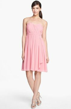 Donna Morgan 'Lindsey' Pleated Sweetheart Neckline Chiffon Dress available at #Nordstrom
