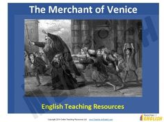 The Merchant of Venice teaching resources http://www.teacher-of-english.com/resource.php?id=1032