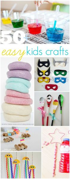 50+ easy kids crafts, great boredom busters!! via @Lauren Jane Jane {lollyjane.com}