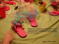 Fiesta de pijamas_Decora tus zapatillas con tul y telas
