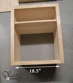 DIY Nightstand - Shanty 2 Chic top and bottom trim - nightstand tut Nightstand Plans, Rustic Nightstand, Shanty 2 Chic, Diy Furniture Easy, Diy Pallet Projects, Diy Woodworking, A Table, Diy Home Decor, Creations