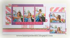 Karen Pedersen: Pink and Purple Layout