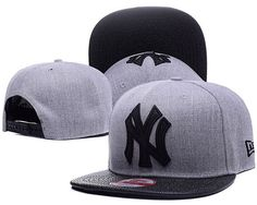 aa34d42ec9e New York Yankees MLB Leather RIP 9FIFTY Snapback Hats Gray Black