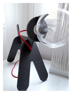 Eno - Get Out lamp. Designed by Clothilde & Julien. Lamp Design, Wood Design, Lighting Design, Wood Kids Toys, I Love Lamp, Business Card Design, Laser Cutting, Giveaways, Diy And Crafts