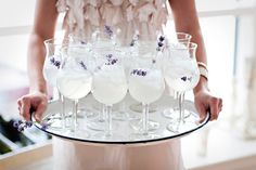 Just the drink for a shower or ladies lunch or just because - Lavender Lemondade.