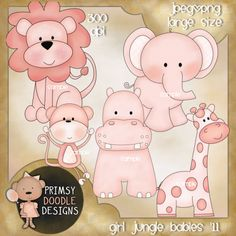 http://primsydoodledesigns.net/index.php?main_page=product_info=_id=1745    Pink baby animal 300 dpi clip art
