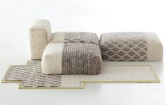 knit texture rug & furniture - patricia urquiola | mangas space