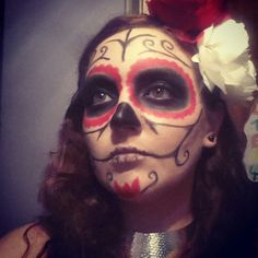 sugar skull make-up teschio messicano
