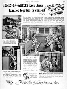 Image detail for -1951 Trailer Coach Mobile Home Classic Vintage Print Ad