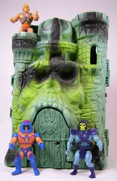 He-Man action figures & Castle Grayskull... still love he man, watch it with my kids b/c you know I had to buy it on dvd for them ;)