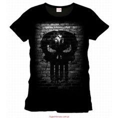 Koszulka Punisher na murze