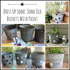 Didn't these old buckets turn out adorable! DIY from Little Brags