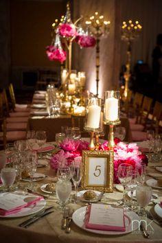 Gold Centerpieces Wedding Reception | http://simpleweddingstuff.blogspot.com/2014/05/gold-centerpieces-wedding-reception.html