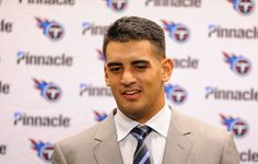 Tennessee Titans quarterback Marcus Mariota responds to a reporter's question after an NFL football game against the Detroit Lions, Sunday, Sept. 18, 2016, in Detroit. (AP Photo/Jose Juarez)