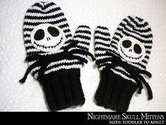 Ravelry: Nightmare Skull Mittens pattern by Janet Jameson