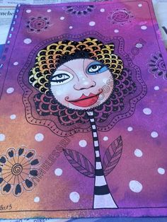 Timeless Rituals #art journal #mixed media #collage #doodle #flower