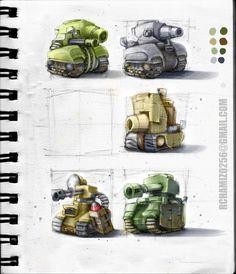 ArtStation - Chibi 2ww tanks, ricardo Chamizo