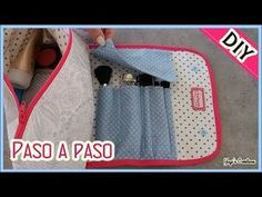 24 Ideas for art storage bag Diy Makeup Bag Tutorial, Makeup Bag Tutorials, Diy Tutorial, Diy Pouch No Zipper, Sewing Crafts, Sewing Projects, Art Storage, Pouch Bag, Organizer