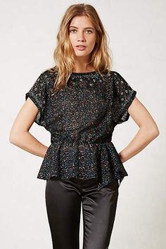 eb78d51a17b Saturnalia Beaded Peplum Top by Isani Blouse Outfit