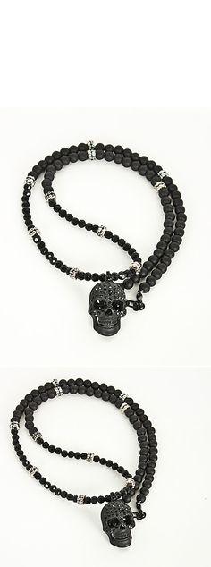 http://www.rebelsmarket.com/products/super-unique-cubic-black-skull-pendant-beads-necklace-50668