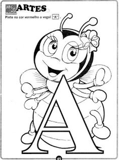 Hand Embroidery Patterns, Letters And Numbers, Smurfs, Fictional Characters, 1, Kids Learning Activities, Educational Activities, Letter E Activities, Preschool Alphabet Activities