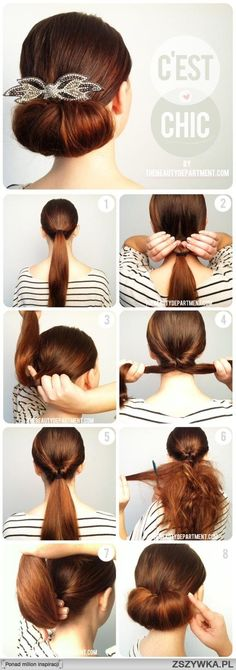 hair styles for long hair hair tutorial Pretty Hairstyles, Easy Hairstyles, Latest Hairstyles, Easy Wedding Guest Hairstyles, Easy Elegant Hairstyles, Simple Hairdos, Perfect Hairstyle, Roll Hairstyle, Bridal Hairstyle