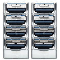 3 capa de Hojas de Afeitar 8 unids/set Hombres Trimmer de Afeitar Hombres 3 Reemplazo de La Hoja de afeitar la Cabeza Afeitadora GFDLV Azul Verde de afeitar