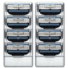 8 unids/set 3 Hojas de Afeitar del Condensador de Ajuste De Afeitar RU Estándar Estrecha Men Shaving Razor máquina de Afeitar Cuchillas de Afeitar Para Hombres 3 Cartucho Cassette
