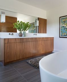 Master Bath Renovation in collaboration with Burton Architecture Brian Dittmar Design, Inc. Alameda CA