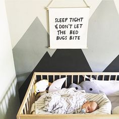 Regram from one of the #zanagirls besties @nikki_viola -  Our 'sleep tight' banner above her gorgeous baby boy's crib  #micah #regram #inlove - thanks for taking this pic Nikki