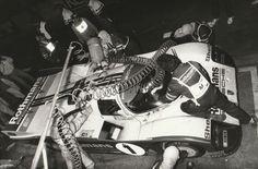 LE MANS 1986 #1 ROTHMANS PORSCHE 962 PIT AL HOLBERT STUCK PERIOD DPPI PHOTOGRAPH
