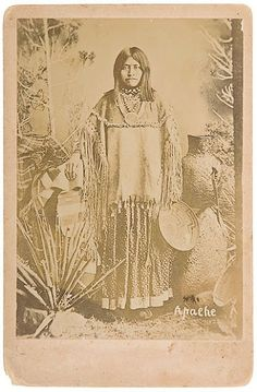 """""""Dos-teh-seh (aka Toos-Day-Zay) - Chiricahua Apache - circa 1880 {Note: Dos-teh-seh was the daughter of Mangas Colorados, the wife of Cochise, and the mother of Taza and Naiche.}"""""""