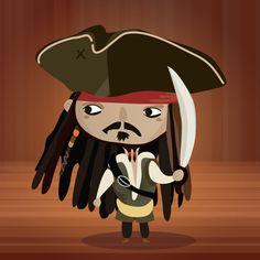 Captain Sparrow - Illustration by Maria Jose Da Luz