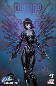 Domino J Scott Campbell Xmen Comic Book Artists, Comic Book Characters, Comic Book Heroes, Marvel Characters, Comic Artist, Comic Character, Comic Books Art, Marvel Comic Universe, Marvel Comics Art