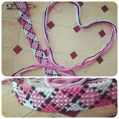 Added by Peach Friendship bracelet pattern 81 #friendship #bracelet #wristband #craft #handmade #plaid