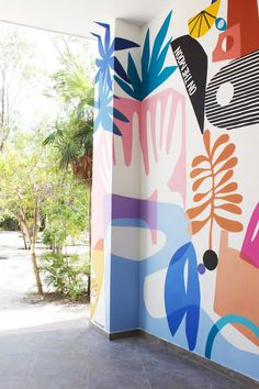 Mural Cafe, Cafe Wall, Kids Room Murals, School Murals, Mural Wall Art, Mural Painting, Painted Wall Murals, Paint Designs, Public Art