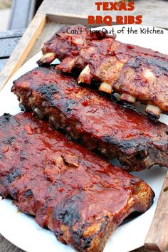 Nothing says a BBQ like some delicious ribs. These tender and juicy BBQ ribs recipes will be a big hit at your next cookout! Pork Rib Recipes, Grilling Recipes, Meat Recipes, Smoker Recipes, Grilling Ideas, Game Recipes, Fish Recipes, Pork Spare Ribs, Bbq Pork Ribs
