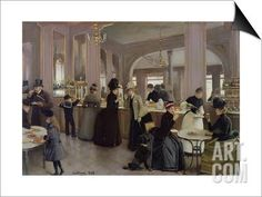 La Patisserie Gloppe, Champs Elysees, Paris, 1889 SwitchArt™ Print by Jean Béraud at Art.com