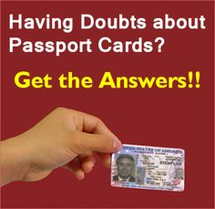 Frequently Asked Questions About Passport Cards Passport Card, News Blog, How To Apply, This Or That Questions, How To Plan, Reading, Cards, Word Reading, Maps