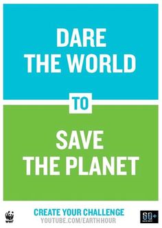Lights Out for a Great Cause, Our Planet.  Click the photo to see the Earth Hour 2013 Video, it's truly Lovely!