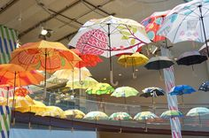 鈴木マサル(suzuki masaru) The exhibition of an umbrella Japan Design, Cafe Design, Umbrellas, Textile Design, Weaving, Fair Grounds, Japanese Design, Cafeteria Design, Loom Weaving