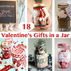 18 Valentine's Gifts in a Jar howdoesshe.com