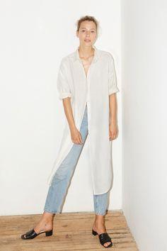 Datura White Linen Lola Shirt