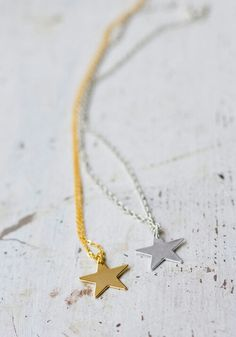 Gold Star Pendant Necklace — Bodie and Fou - Award-winning inspiring concept store Star Necklace, Pendant Necklace, Lily Cat, Jewelry Box, Jewelery, Star Jewelry, Friendship Necklaces, Love Stars, Jewelry Photography