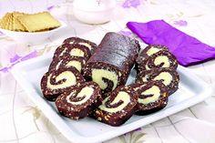 rulada de biscuiti Romanian Desserts, Romanian Food, Food Cakes, Sweet Memories, Doughnut, Biscuit, Cake Recipes, Muffin, Good Food
