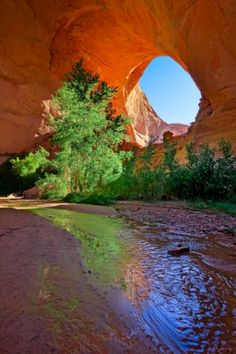 Jacob Hamblin Arch, Coyote Gulch, located in Garfield and Kane Counties in southern Utah, in the western United States.