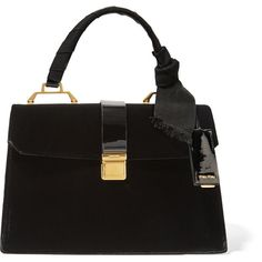 979e2014b9bf Miu Miu School velvet and patent-leather tote (4 010 AUD) ❤ liked