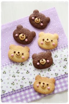Baking brown bear cookies at our Lake Cottage Galletas Cookies, Cute Cookies, Cupcake Cookies, Cupcakes, Shortbread Cookies, Desserts Japonais, Cute Food, Yummy Food, Kawaii Dessert